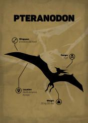 pteranodon dinosaur jurassic world park skeletton silhouette