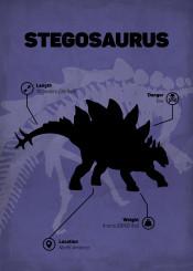 stegosaurus dinosaur jurassic world park skeletton silhouette