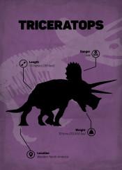 triceraptos dinosaur jurassic world park skeletton silhouette