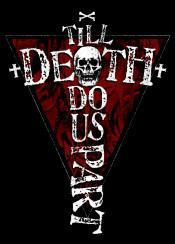 valentines day till death do us part love skull rose cross bones unique typography typo text art digital design