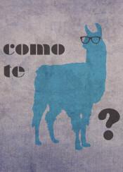 llama como humor pun typography comotellama spanish