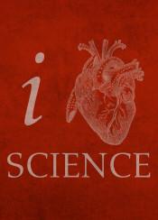 love scientist science heart medical design designer humor pun typography student college professor doctor