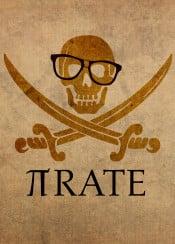pi pirate math numbers college student science pun humor mathematics professor learn education study dorm nerd