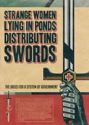 king vote election poster propaganda sword fantasy arthur lady popart popculture artdeco