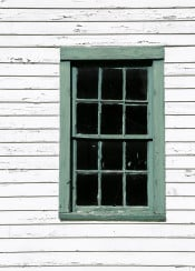 antique green and white window geometric abstract architecture architectural elements old house abandoned chipped chippy paint vintage vertical black cyan aqua jade