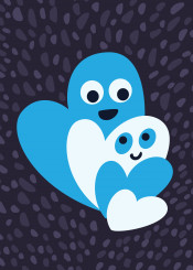 hearts love valentine illustration vector blue heart smile smiling family parents cute sweet lovely cheerful romantic symbol happy romance