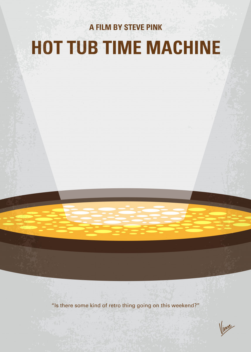 No612 My Hot Tub Time Machine minimal movie poster A m.