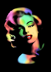 marilyn rainbowcolors popart portrait beautiful sensual diva hollywood celebrity blonde actress lipstick faceart digitalart graphicart fashion tendencies legend cult sexy pinup fiftees lovelymarilyn