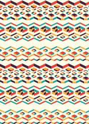 pattern native shape pastel geometry