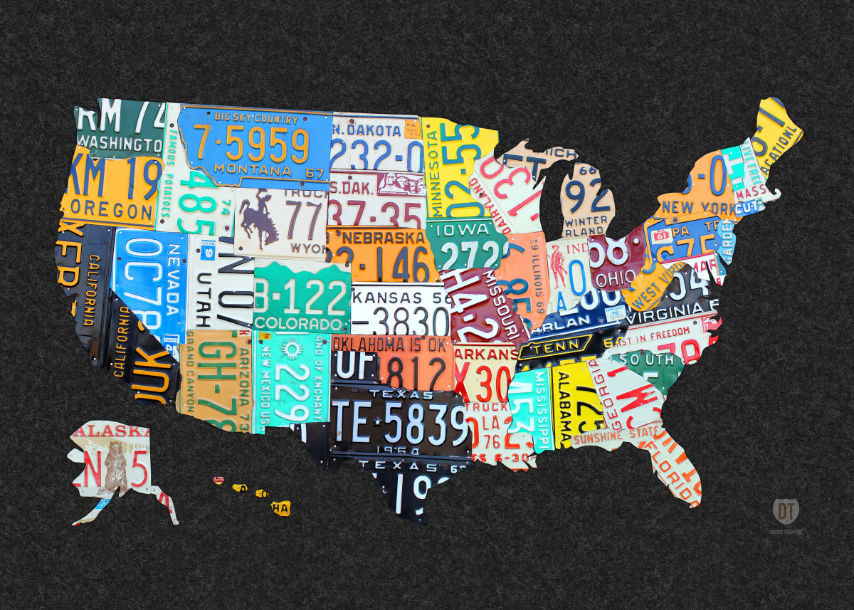 License Plate Art and Maps by Design Turnpike by Design Turnpike