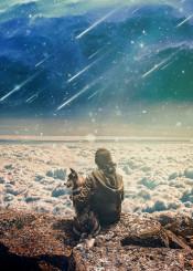 surrealism space dog illsutation