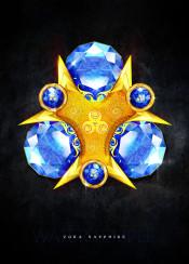 zelda legendofzelda ocarinaoftime link princesszelda nintendo n64 nintendo64 retro hyrule goddess stone jewel gem gemstone sapphire blue water elemental temple watertemple gamer videogame gaming realistic render beautiful gold shiny zora sword