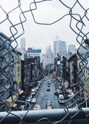 nyc newyork manhattan chinatown city buildings road sky