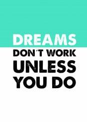 digitalart typography quotes dreams illustration mint white black