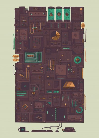 Hector Mansilla Sci Fi   Displate Prints on Steel