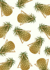 pineapple pattern triangles decor home color colorful texture summer fresh hot food gold