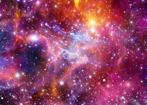 purple orange space galaxy painting - photo #6