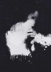 dark black white portrait digital art abstract surreal norberg painting bjorn