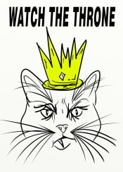 cat cats yellow black white king crown throne watch jayz kanye west hiphop rap design text urban street graffiti