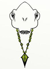 alien gold chain hiphop rap retro aliens design rapper bboy urban street graffiti yellow black white grey gray unique