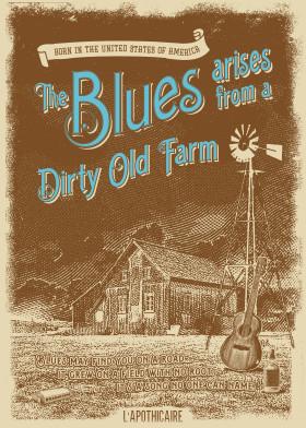 illustration vector blues vintage farm types