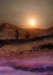 landscape nature watercolor