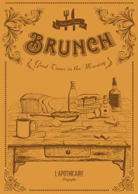 illustration brunch morning food vector graver vintage old