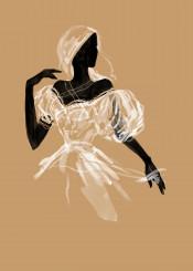 fashion art style beauty bride wedding silhouette elegance moda watercolor digital sahara desert queen africa