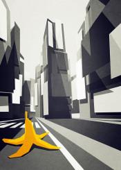 banana cab taxi new york newyork street building architecture
