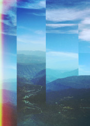 abstract photo nature landscape mountains digital