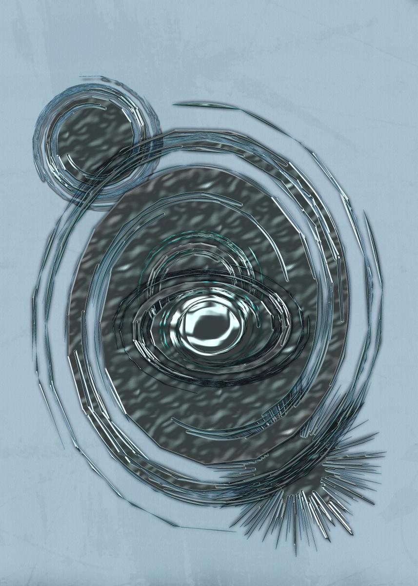 """""""Spinning"""" Digital Art. Spinning, swirling, metallic, space pattern."""" 177714"""