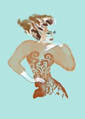 fashion beauty copper makeup hair clothes dress elegant style