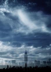 empire empirestate nyc newyork sky clouds doubleexposure skylines urban manhattan