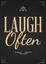 laugh often live love text art inspirational inspiration quote life black gold swav cembrzynski