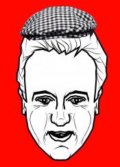 dodgy dave david cameron funny humour del boy trotter red urban street graffiti pop art design cap politics politition prime minsiter uk british