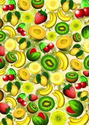 fruits summer summerfruits juicy fresh banana melon watermelon cherry kiwi lemon lime strawberry season food healthyfruits pattern fruitspattern red green yellow orange sunny sunnyfruits refreshingfruits exoticfruits ornamentalfruits dessert colorful delicious