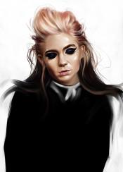 pink grimes music portrait painting voice colors fashion eyes claireboucher singer