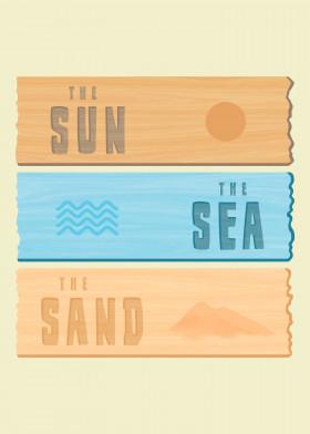 summer holidays sun sea sand beach vacation beachhome ocean sign
