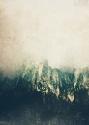 abstract photo mountains landscape nature