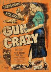 vintage retro vintageposter retroposter gun ammo proguns proarms progun retromovie movie movies posters distressed crazy thrill ammunition