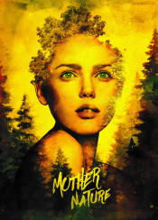 nature mother woods trees forest surreal surrealism fantasy girl woman beauty beautiful face portrait natural tree yellow green eyes text design exposure painting sexy seductive spirit fairy sprite goddess god pine modern abstract texture plants plant human outdoors