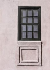 architectural details charleston south carolina usa mauve and lavender rose vertical windows geometric geometry elements square rectangles squares pink pastel antebellum