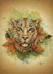leopard green eyes