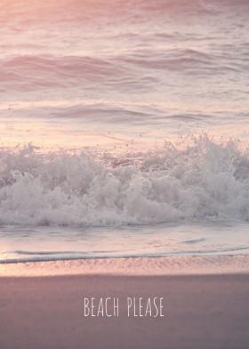 beach waves sundown sunrise sun sunshine beige pastel water tide tides crashing crash wave hawaii california florida travel holidays summer vacation springbreak spring photo text words quote monika strigel