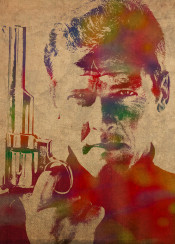 roger moore james bond jamesbond watercolor portrait gun rogermoore