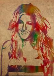 ellie goulding elliegoulding music singer musician rock pop watercolor portrait