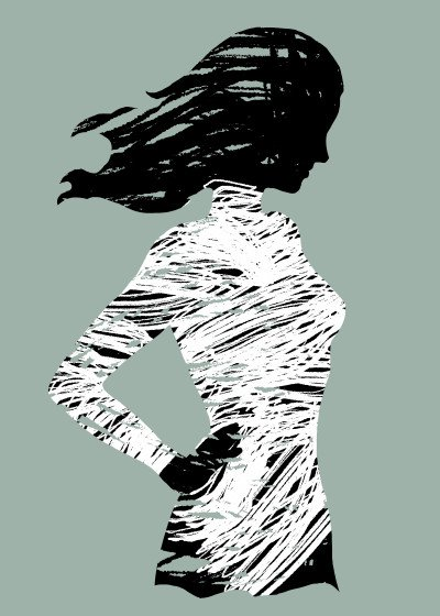 Mod Artisto Brushilhouettes   Displate Prints on Steel