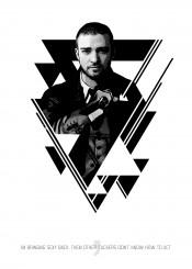 justin music celebrity singer poster black white minimal minimalist artwork design minimalism illustration art graphic pop star