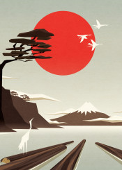 sun birds nature tree mountain timber wood crane fuji