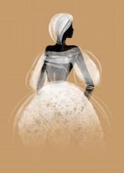 fashion illustration fashionillustration white black watercolor aquarelle couture desert africa